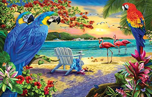 Secluded Beach a 1000-Piece Jigsaw Puzzle by Sunsout Inc. (Beach Puzzle 1000 Piece compare prices)