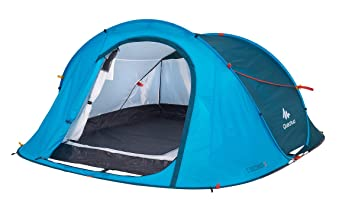 Quechua Waterproof Pop Up C&ing Tent 2 Seconds Easy 3 Man (Blue)  sc 1 st  Amazon.com & Amazon.com : Quechua Waterproof Pop Up Camping Tent 2 Seconds Easy ...