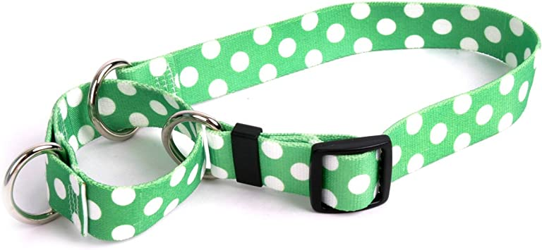 Martingale Dog Collar Custom Made 2 Inches Wide Polka Dots