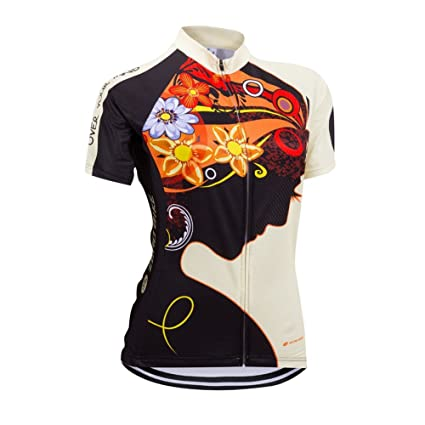 Image Unavailable. Image not available for. Color  ZEROBIKE Women s Short  Sleeve Cycling Jersey ... afd41bd98