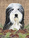 Caroline's Treasures SS4087GF Bearded Collie Flag, Small, Multicolor For Sale