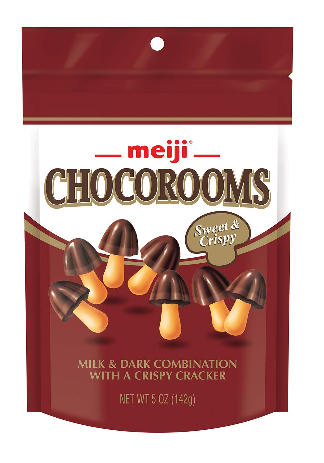 Meiji Chocorooms Pouch,  5 Ounce (Pack of 12)