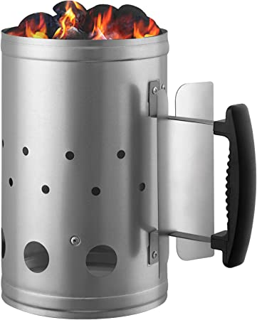 Weber Rapidfire  Aluminium Steel Chimney Cooking Charcoal Fire Grill Starter