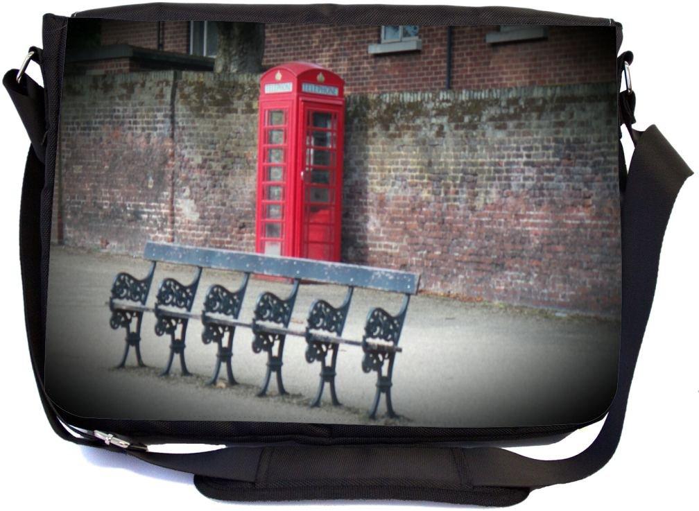4b1c38b4bdf2 50%OFF Rikki Knight Vintage Red British Phone Booth Park Bench ...