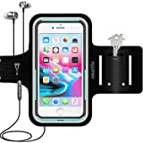 Smartlle Phone Armband Running Workout Holder for iPhone 11/11 Pro Max/Xs Max/XR/8 Plus/7 Plus/6s Plus, Samsung Galaxy S…