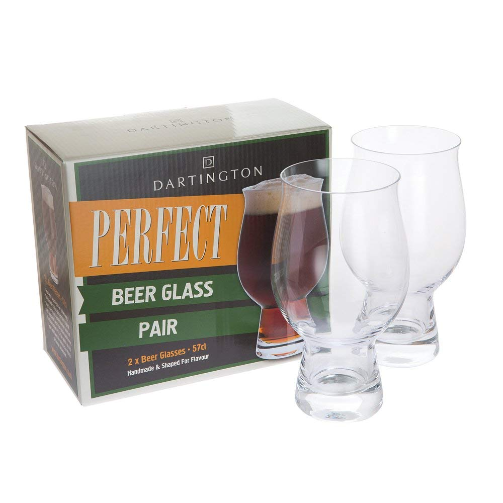 Dartington Crystal Perfect Beer Glass Pair, 9 x 9 x 17 cm Hsg Tadeusz Wrzesniak DR3344/4/P