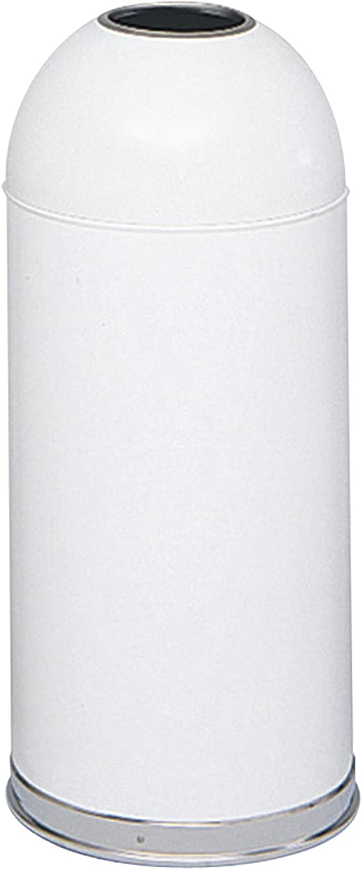 Amazon Com Safco Products 9639wh Open Top Dome Trash Can 15 Gallon White Home Kitchen