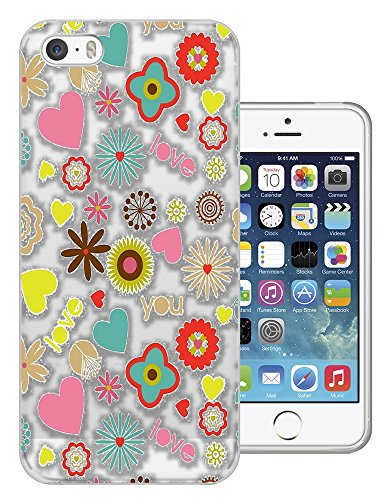 c01473 - Hipster Hippie Girly Pattern Love Design iphone 4 4S Fashion Trend CASE Gel Rubber Silicone All Edges Protection Case Cover