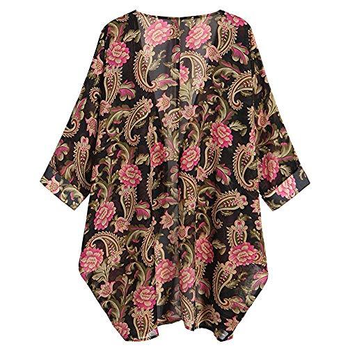 Primavera Kimono Jerséis Rojo Mujer Tops Otoño Chaqueta Splicing De Cardigan Para Estampada Outdoor Luckycat Con Manga Larga Casual Outerwear Jersey Abrigo Cárdigans 8qnHw61