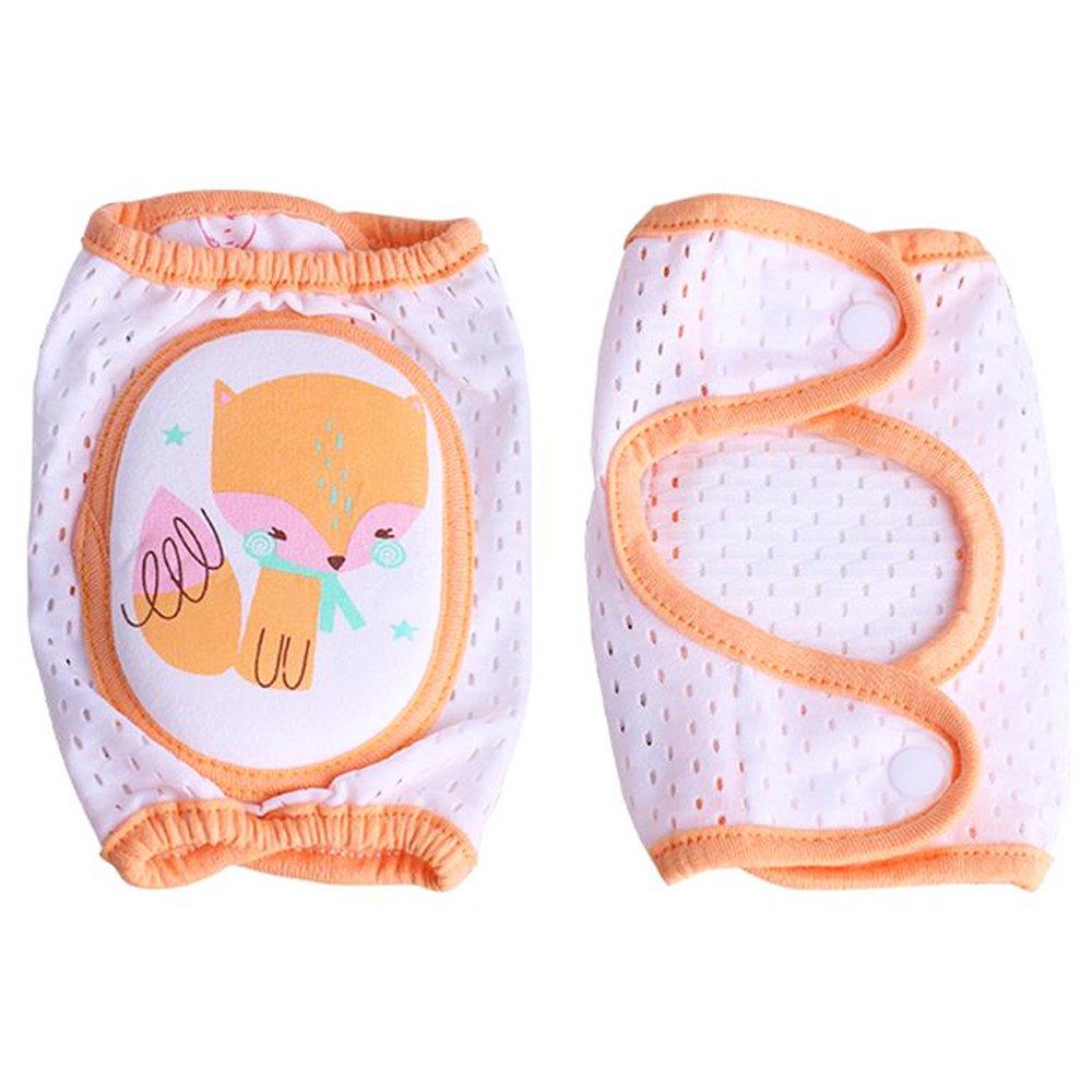 Ginocchiere iSuper Baby, Baby Ginocchiere regolabile con bottoni per neonati ragazze o ragazzi Aiuto per gattonare per bambini di 0fino a 2anni (Volpe)
