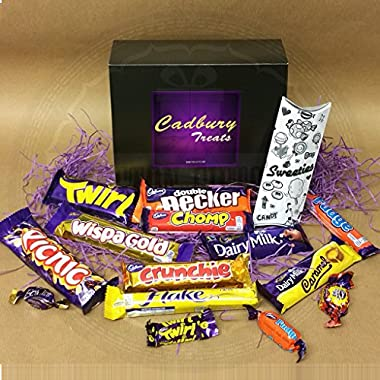 Cadbury Bar Lover's Mega Chocolate Box - Curly Wurly, Wispa Gold, Picnic, Fudge, Dairy Milk, Caramel, Wispa, Double Decker, Twirl And Crunchie - By Moreton Gifts