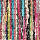 DII 100% Cotton, Everyday Machine Washable Chindi Rag Table Runner, 14 x 72