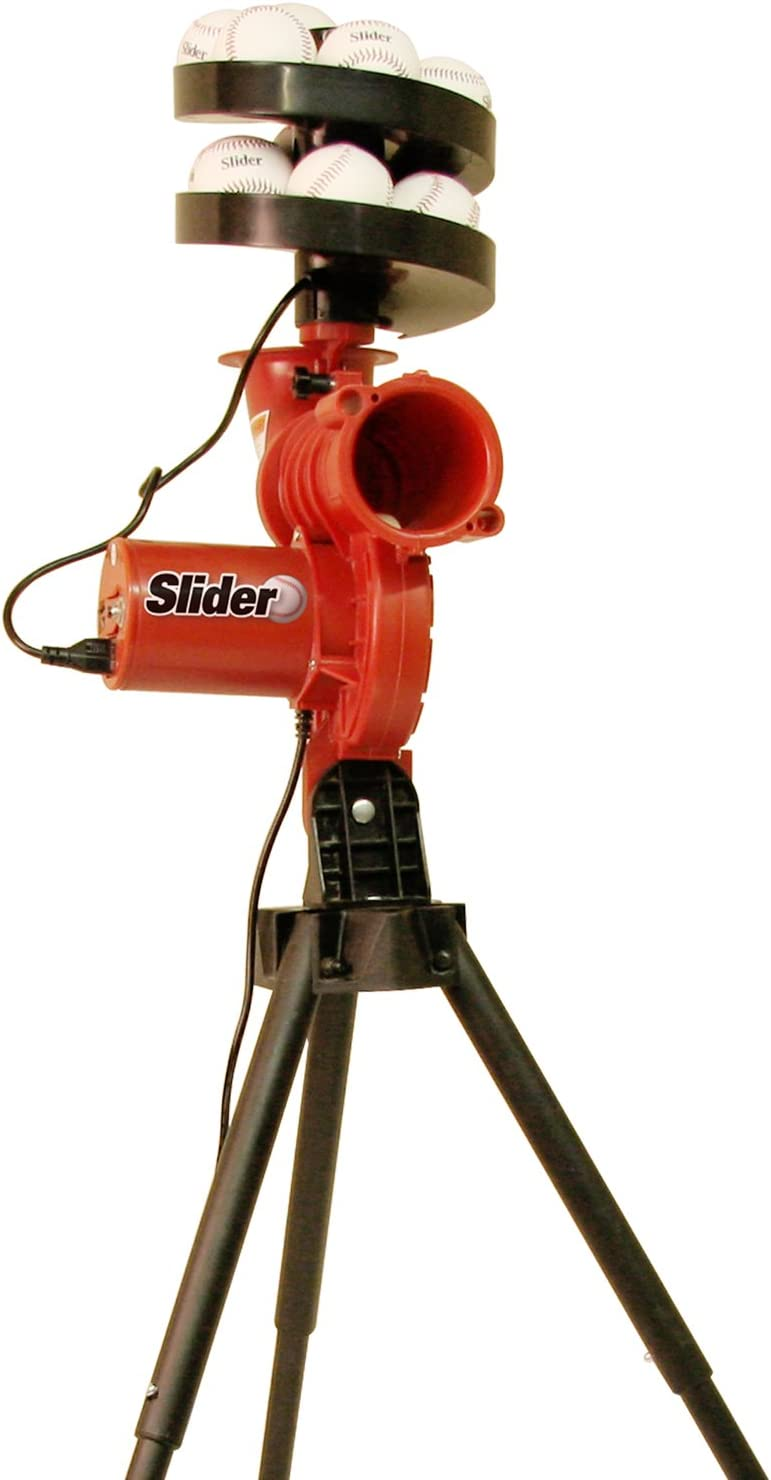 HEATER SPORTS Slider Lite Curveball Baseball Pitching Machine for Kids, Teens, and Adults, Uses Pitching Lite Machine Baseballs & Plastic Baseballs, Includes Automatic Ballfeeder : Baseball Pitching Machines : Sports & Outdoors