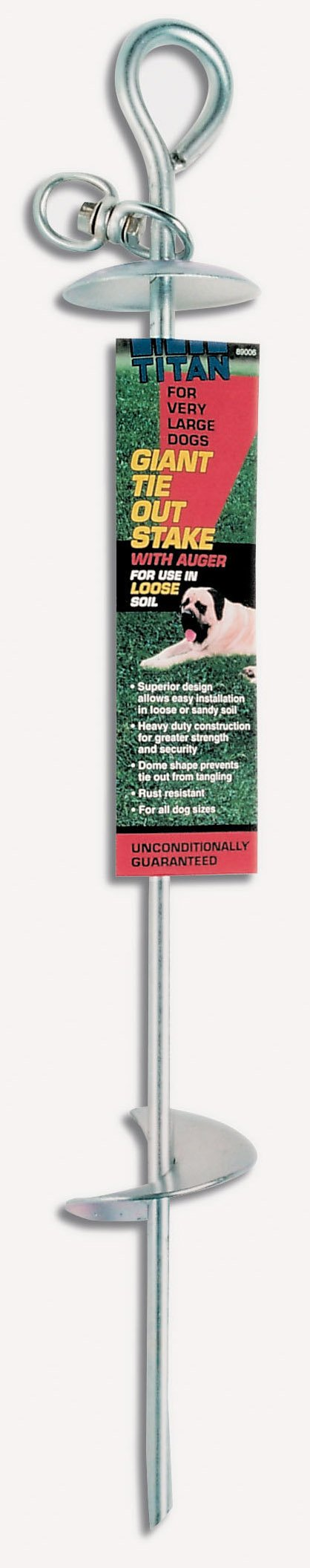 Titan Giant Tie Out Auger Stake , 13.0 mm    (For Loose or Sandy Soil) by Titan