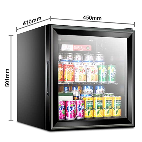 Silk Road Mini Refrigerador • Refrigerador • Enfriador • 50 litros • Temperatura Ajustable En 5 Etapas • Clase Habitaciones De Hotel O Dormitorios • Puerta ...