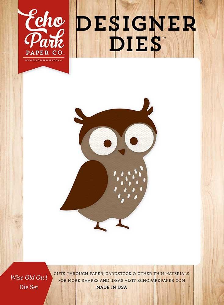 Echo Park Paper Company Wise Old Owl Die Set