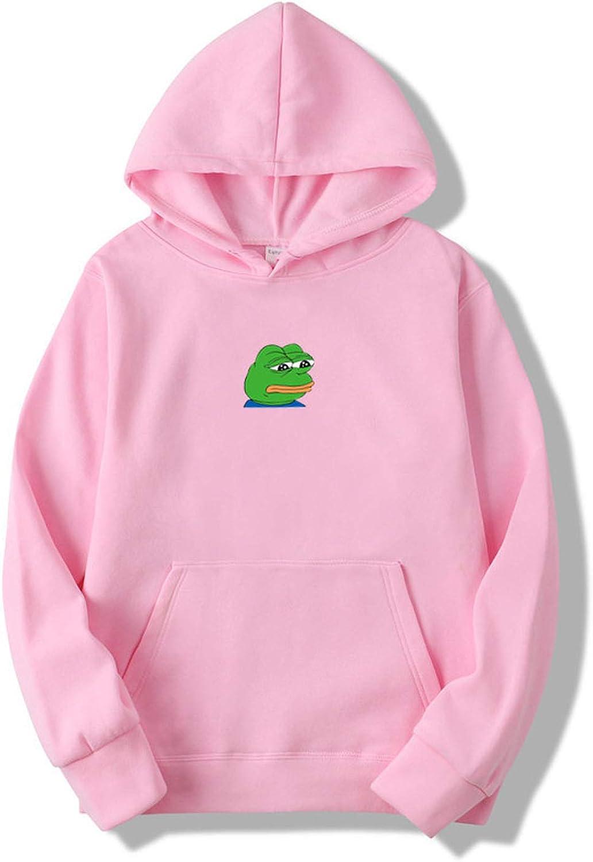 sensitives 2019 Men//Women Sad Frog Print Sportswear Hoodies Male Hip Hop Fleece Long Sleeve Hoodie