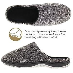Gold Toe Men's Jona Sweater Plush Fleece Lined Memory Foam Indoor Outdoor House Slipper,Slip On Clog Shoe