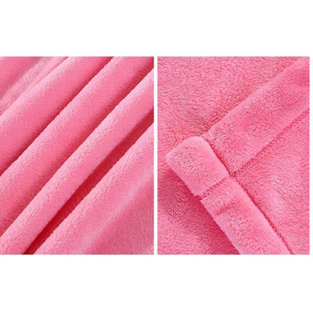 Creine Soft Warm Solid Plush Fleece Blanket Throw Sofa ...