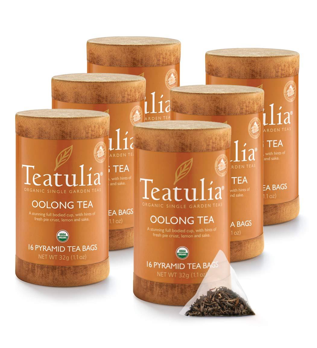 Organic Teatulia Oolong 6 units x 16 Unwrapped Premium Pyramids by Teatulia