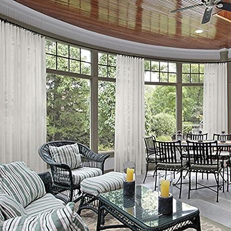 Cololeaf Indoor Outdoor Sheer Curtain For Patio| Porch| Gazebo| Pergola |  Cabana |