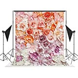 5x7 feet Photography Backdrops, Customized Photo Background, Floral Wall Romantic Flower Petal Photo Backdrops for Studio Props, High Resolution