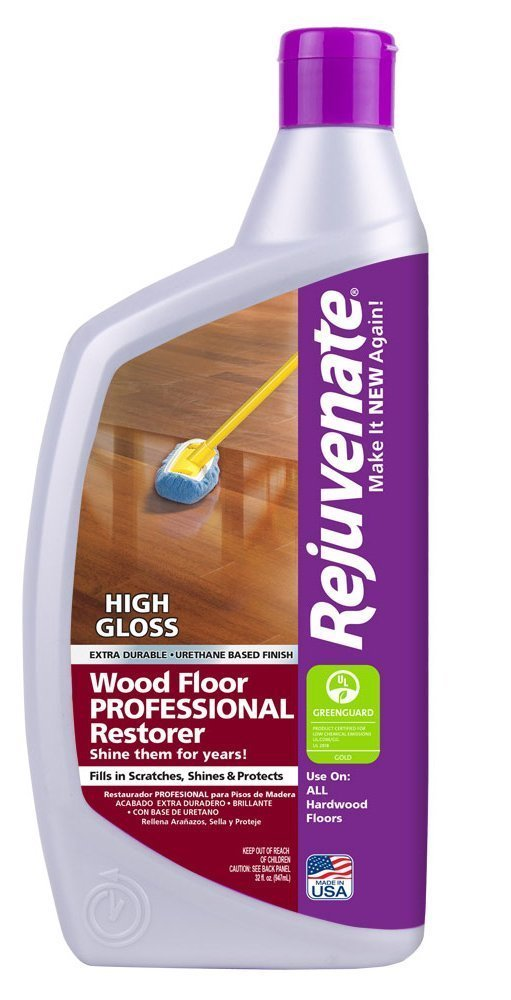 Rejuvenate Professional Wood Floor Restorer with Durable High Gloss Finish Non-Toxic Easy Mop On Application - 32 Ounces 2-Pack by Rejuvenate Professional (Image #1)