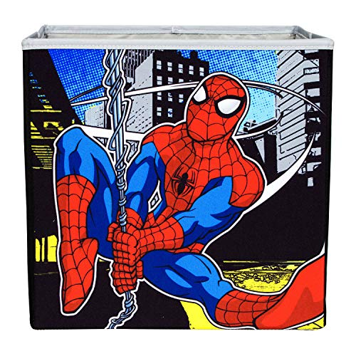 Everything Mary Spiderman Collapsible Storage Bin by Marvel- Cube Organizer for Closet, Kids Bedroom Box, Playroom Chest - Foldable Home Decor Basket Container with Strong Handles and - Toy Box Spiderman