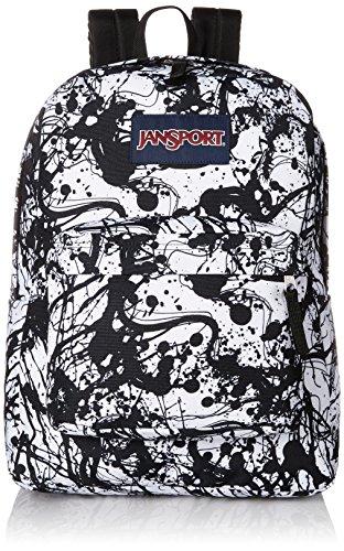 JanSport Superbreak Backpack- Sale Colors (Black Paintball)