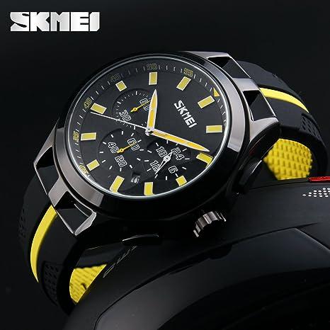 Amazon.com: SKMEI Fashion Chronograph Sport Mens Watches Top Brand Luxury Quartz Watch Reloj Hombre 2017 Clock Male hour relogio Masculino: Cell Phones & ...