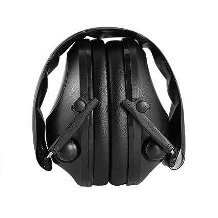 Sookg - Auriculares tácticos de tiro tácticos para caza y deporte, color negro