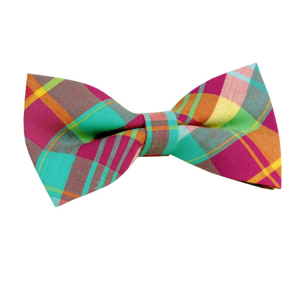 ST34 Brand New Fashion Plaid Tuxedo Adjustable Bow tie for Boys (4.1x 2.1)-Various Colors BG-006