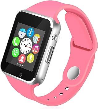 Kivors Reloj Inteligente A1 Bluetooth Smartwatch con TF/Ranura de ...