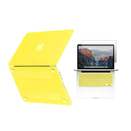 more photos 2583b 108aa Unik Case - Ultra Slim Light Weight Hard Case Cover, Matching Color  Keyboard Cover, Screen protector for Old Generation Macbook Pro 13