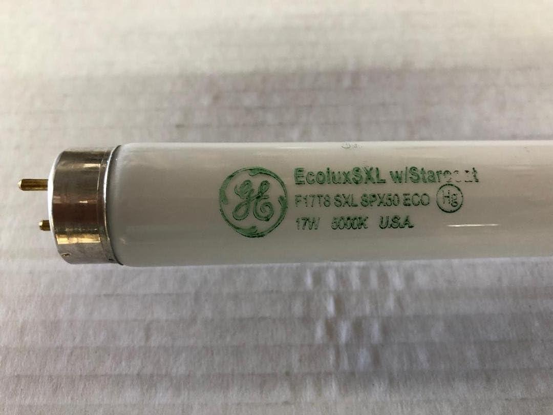 """10-Pack GE F17T8//SPX50 Fluorescent Tube Lamp Light Bulb 17W 24/"""" 5000K Daylight"""