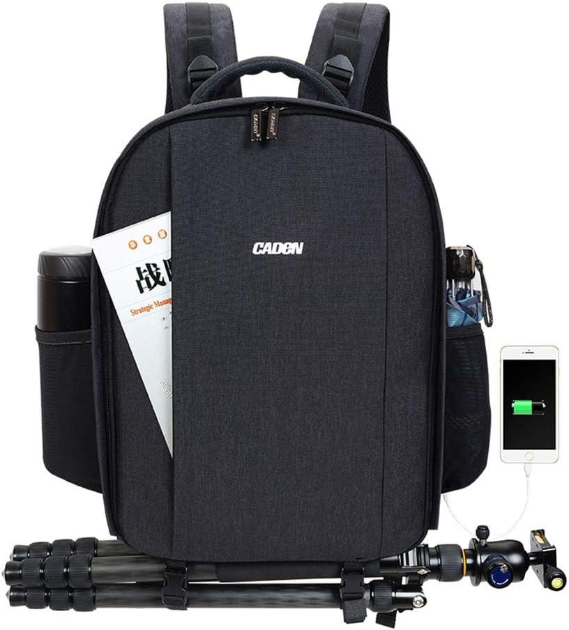 LILINSS Digital Camera Backpack Mens Large-Capacity Multi-Function Retro SLR Camera Outdoor Travel Multi-Purpose Backpack