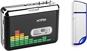 Cassette to MP3 Converter, Portable Cassette Recorder Player, Audio Music Cassette Tape to Digital Converter Player with Earphone and 32GB USB Flash Drive