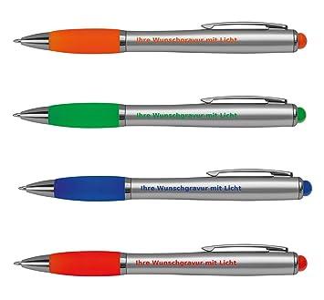 grün Touchpen Kugelschreiber mit Gravur aus Metall Farbe