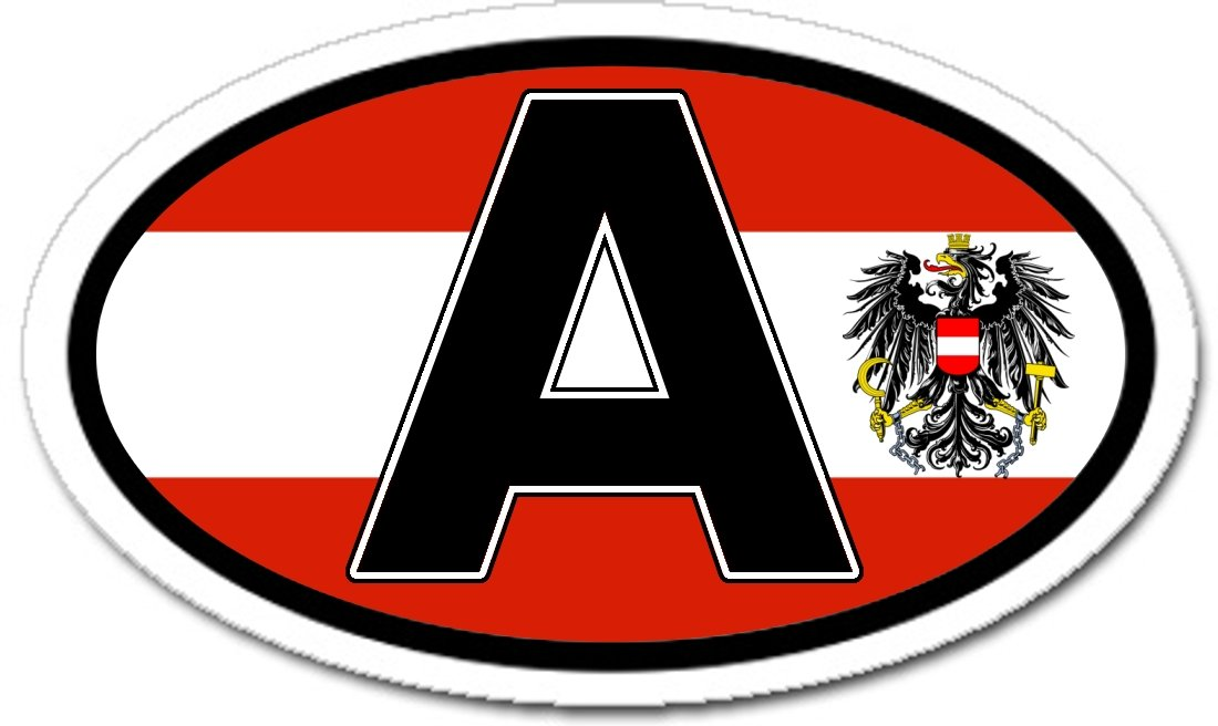 Amazon com a austria flag car bumper sticker decal oval automotive