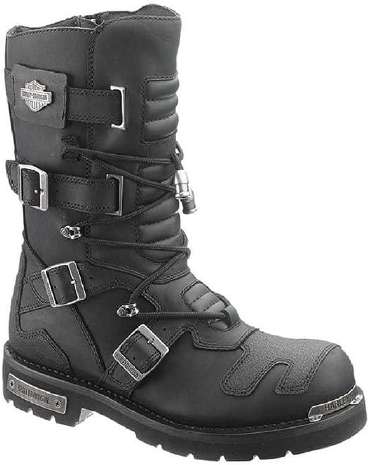 Harley Davidson Men's Axel 10 Inch Black Motorcycle Boots D96035