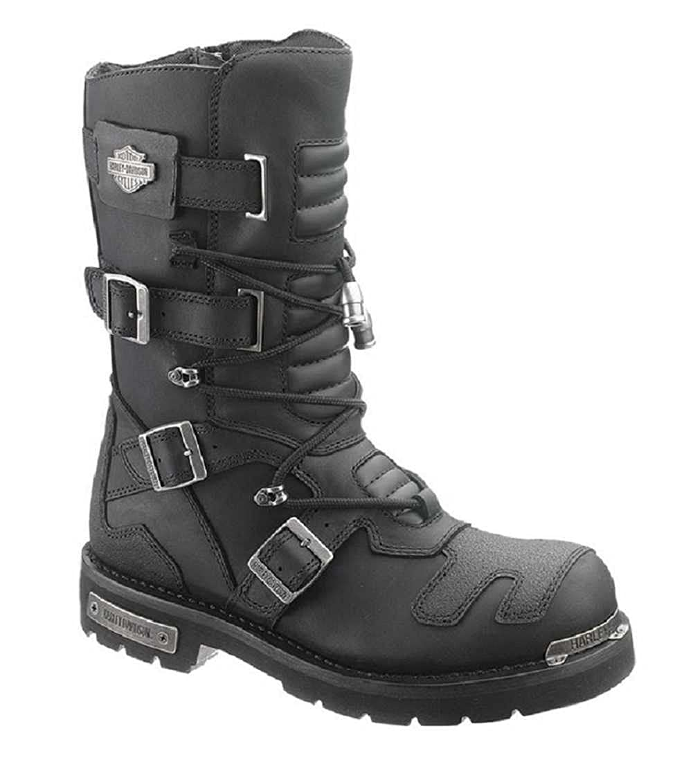 0b9656a11e989b Amazon.com  Harley-Davidson Men s Axel 10-Inch Black Motorcycle Boots  D96035  Harley-Davidson  Shoes