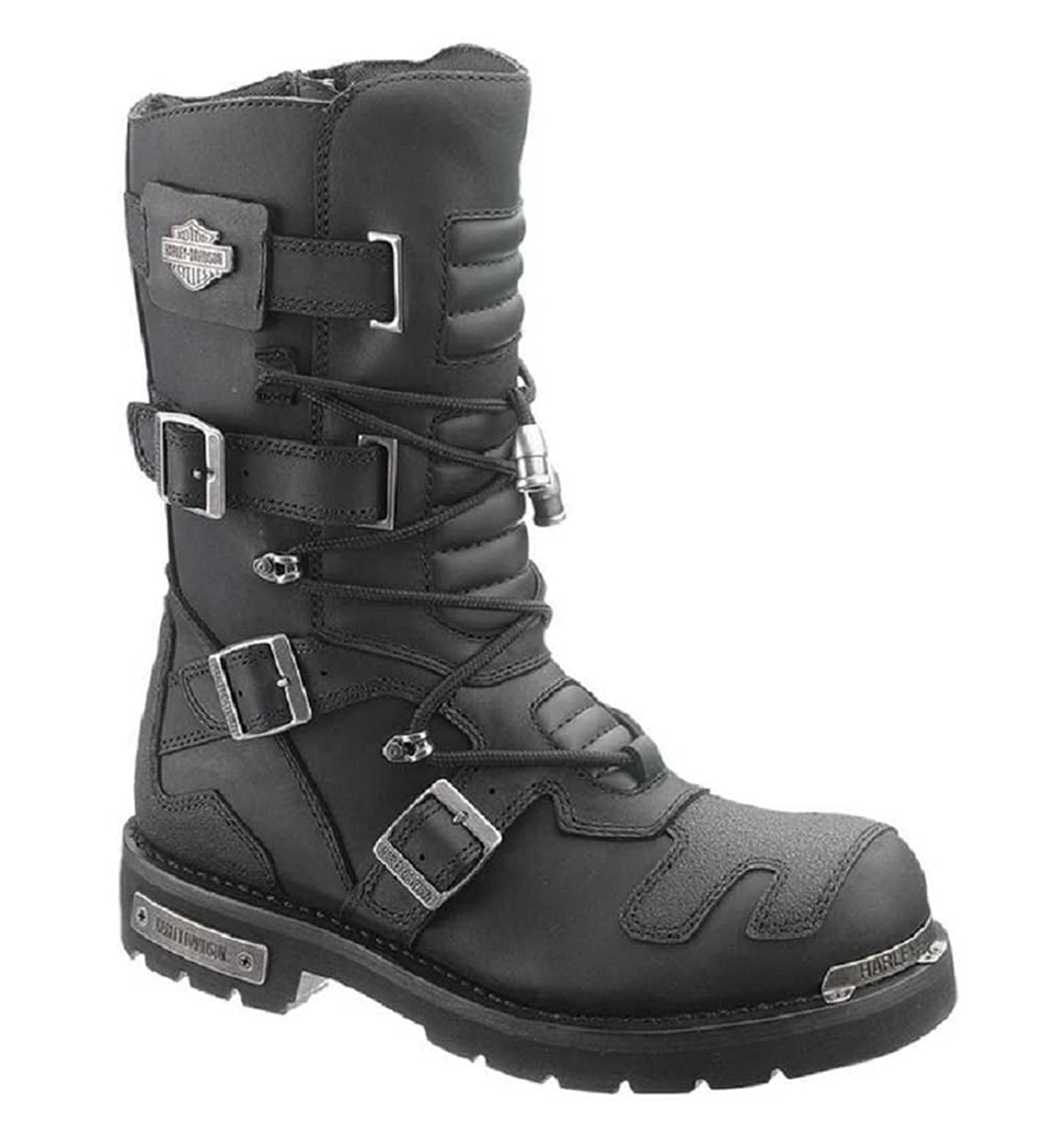 Men's Black Harley-Davidson Axel Motorcycle Riding Boots - DeluxeAdultCostumes.com