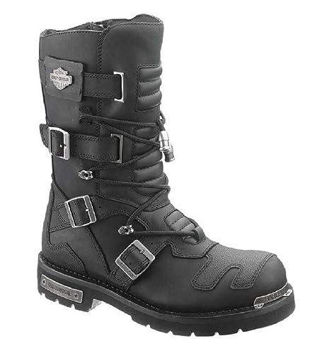 Black Harley Axel 40 Boots Amazon Leather Long it Davidson Mens EU tPrxwqPO