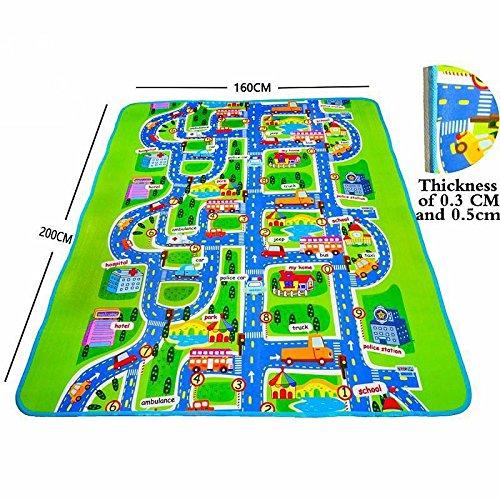 FidgetGear Floor Carpet For Kids City Race Car Road Play Toy Track Rug Baby Eva Foam Mat from FidgetGear