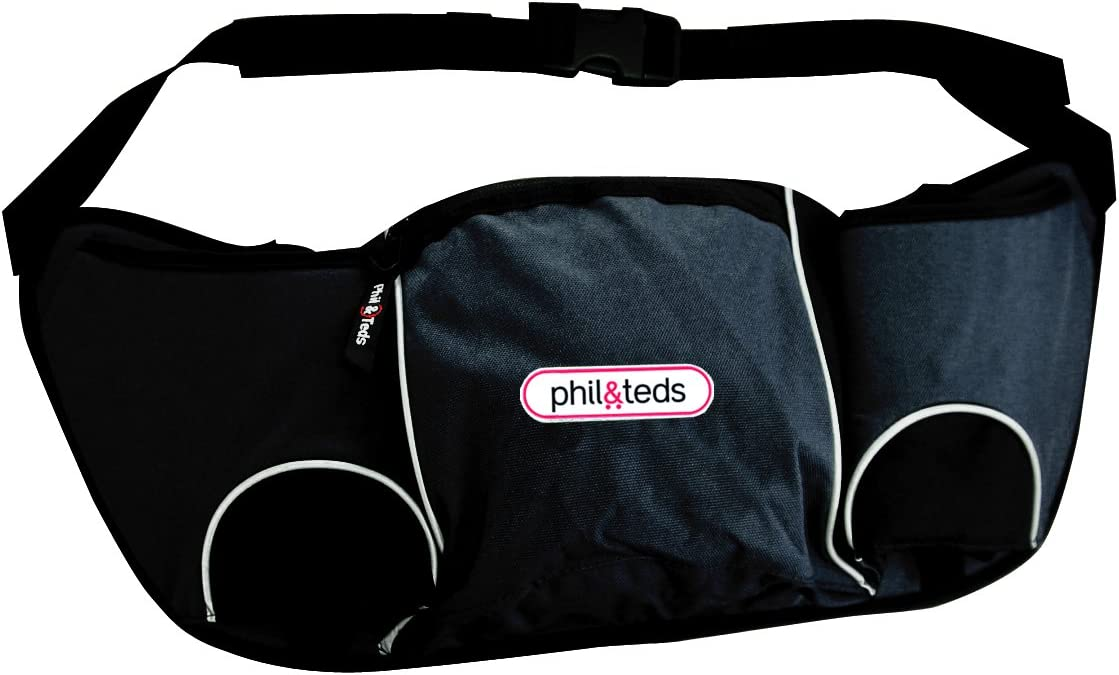 Black Phil /& Teds Hangbag Stroller Handle Caddy