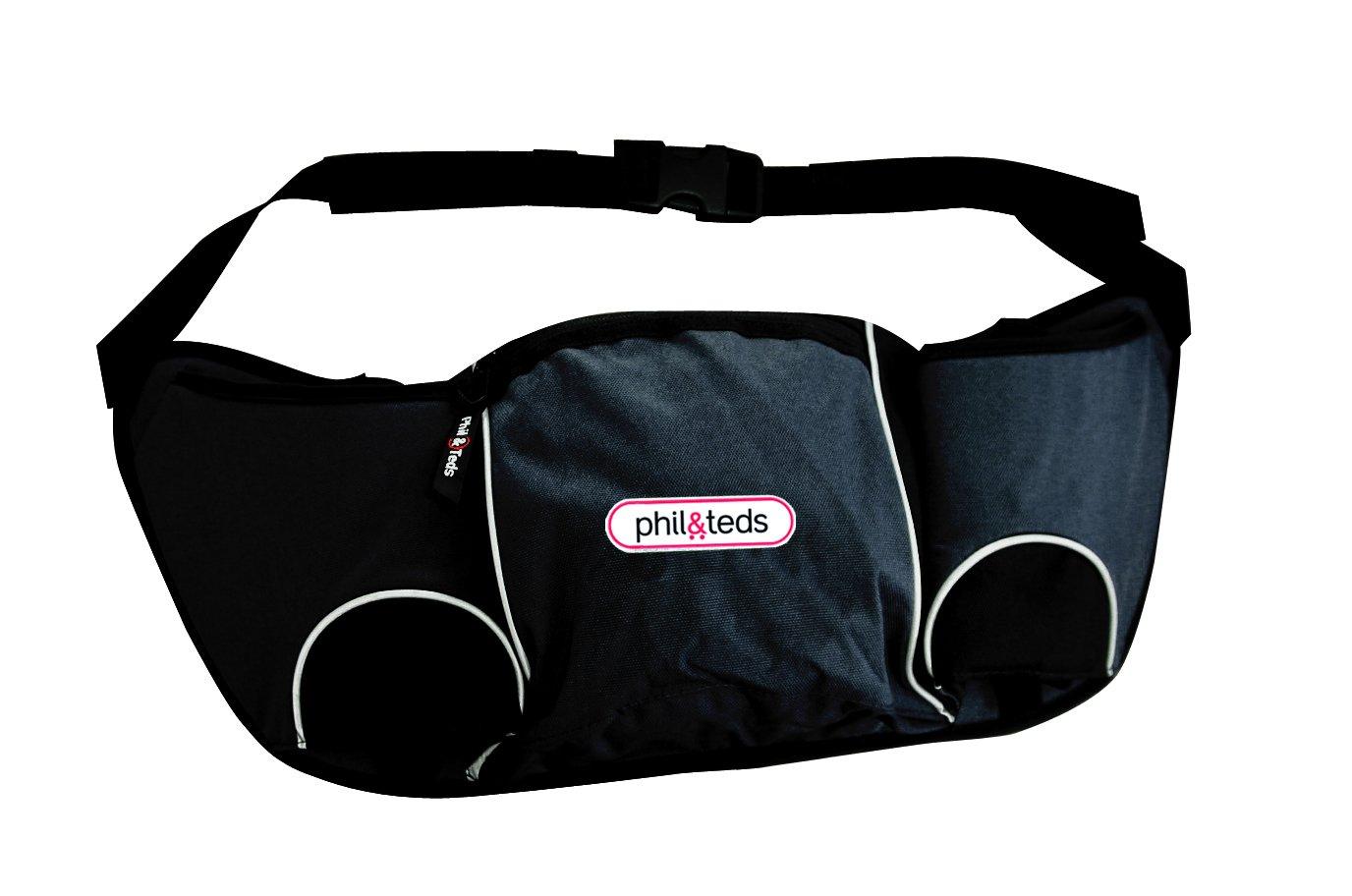phil&teds Stroller Handle Hang Bag and Bottle Holder, Black