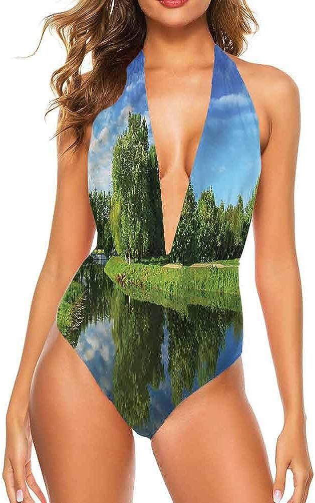 Adorise Maillot de bain Paysage, Jackson Lake aux États-Unis pour vous faire sentir à l'aise/en confiance Multi 16