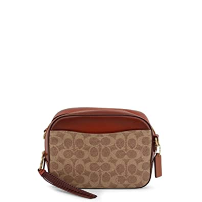 6548c8f9d4561 COACH Women's Camera Bag in Coated Canvas Signature B4/Rust One Size:  Handbags: Amazon.com