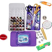 Kurtzy Sewing Kit Premium Sewing Supplies Thread (Sewing Accessories And 2 Scissors)