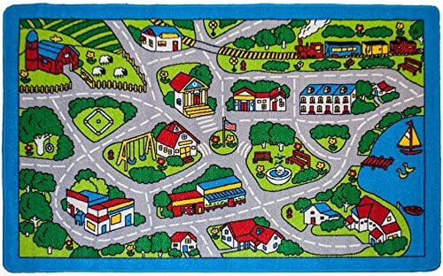 Road Map Toddler Fleece Blanket Road Map Rug Play Mat